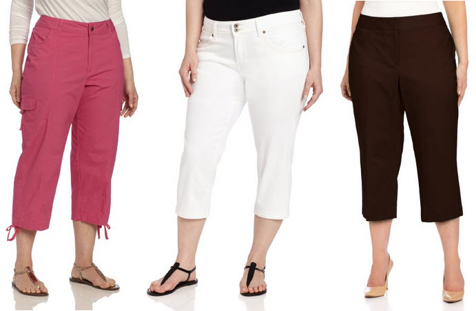 plus size capri pants for women – ChoozOne
