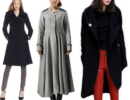 Womens winter maxi coats