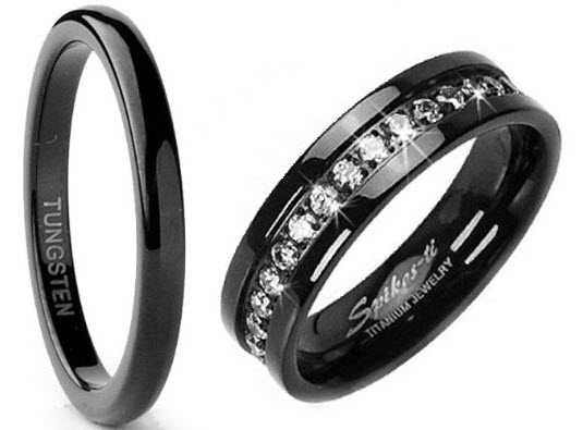 Black Wedding Bands For Women
