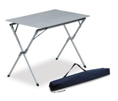 Small Metal Folding Table Camping Choozone